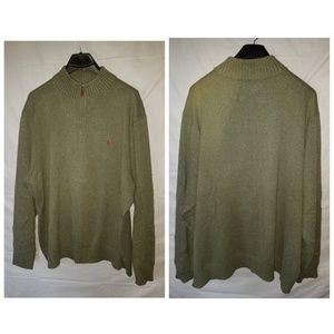 Vintage polo ralph lauren 3/4 zip sweater 3xb